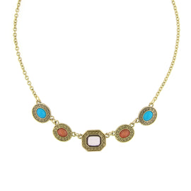 Signature Gold-Tone Multi-Color Collar Necklace