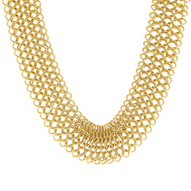 Gold-Tone Chain Collar Necklace 18 In Adj