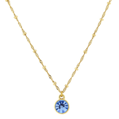 14K Gold-Dipped Pendant Necklace 16 - 19 Inch Adjustable