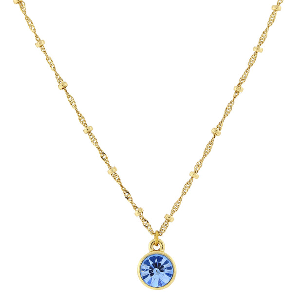 14K Gold Dipped Pendant Necklace 16   19 Inch Adjustable
