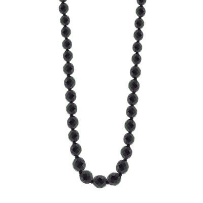 Jet / Jet Graduated Beaded Necklace 32