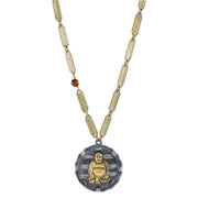 14K Gold Dipped Sitting Budda On Vintage Chain Necklace 32 In
