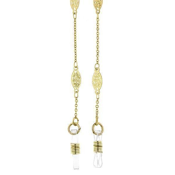 Gold Tone Chain Eyeglass Holder Necklace 30