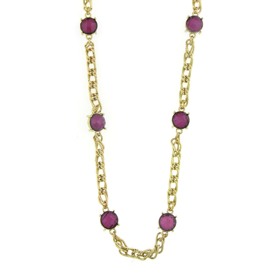 Fashion Jewelry - 2028 Lucite Layering Necklace