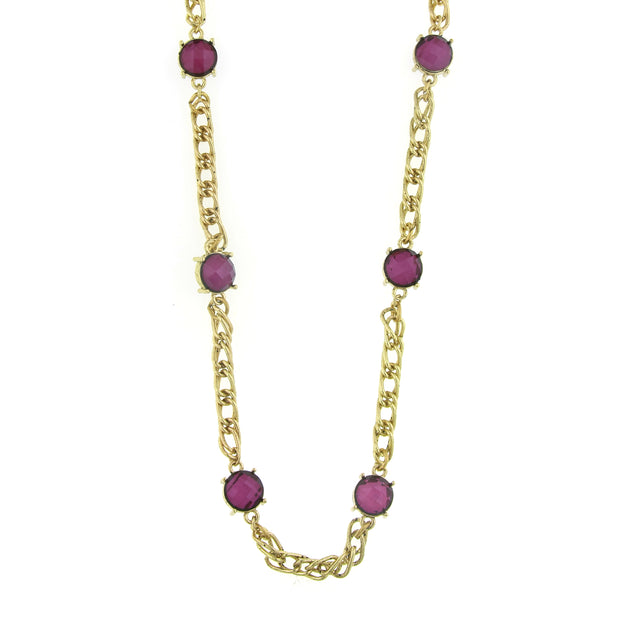 Gold Tone Chain Necklace 36 In