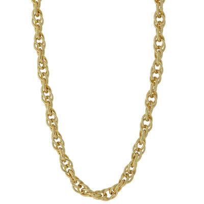 Gold Tone Chain Link Necklace 30 In