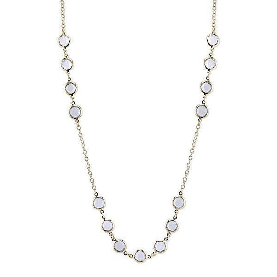 Gold-Tone Clear Crystal Strand Necklace 42