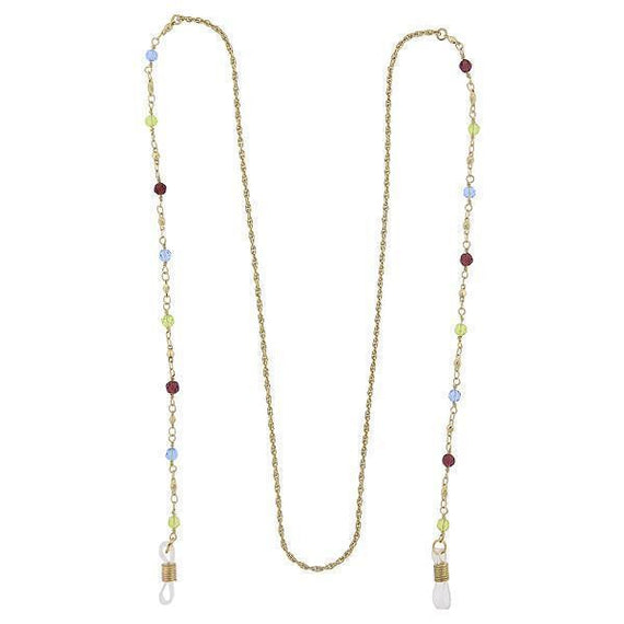 Gold-Tone Multi-Color Beaded Eyeglass Holder 32