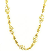 Gold Tone Scrollwork Filigree Chain Rope 46