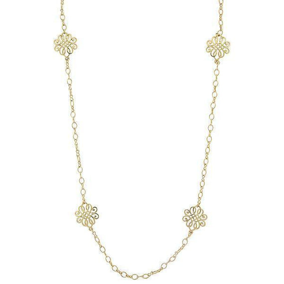 Gold-Tone Filigree Long Strand Necklace 34