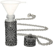 Pewter Filigree Covered 3 69 Ml Glass Vial 30