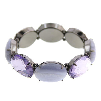 Black Blue Lace Agate/Tanzanite Stretch Bracelets