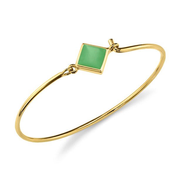 14K Gold Dipped Diamond Shape Enamel Wire Bracelet
