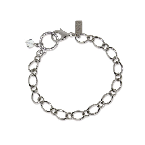 Pewter Charm Holder Bracelet