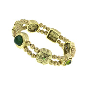 Gold-Tone Charm Stretch Bracelet
