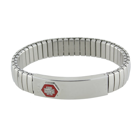 1928 Jewelry: 1928 Jewelry - Stainless Steel Medical Alert ID Stretch Bracelet Men's