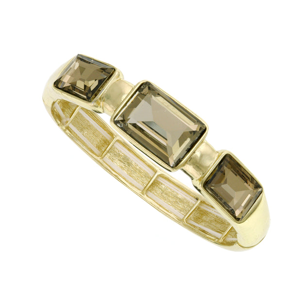Gold-Tone Topaz Stretch Bracelet
