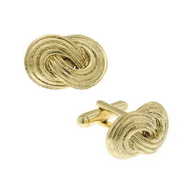 14K Gold Dipped Infinity Knot Cufflinks