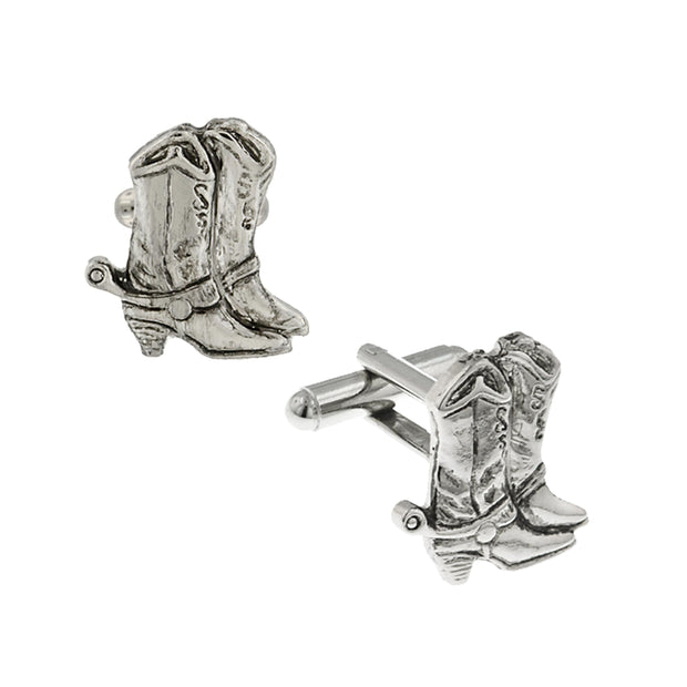 14K Gold Dipped Cowboy Boots Cufflinks
