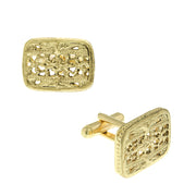 Filigree Rectangle Cufflinks GOLD