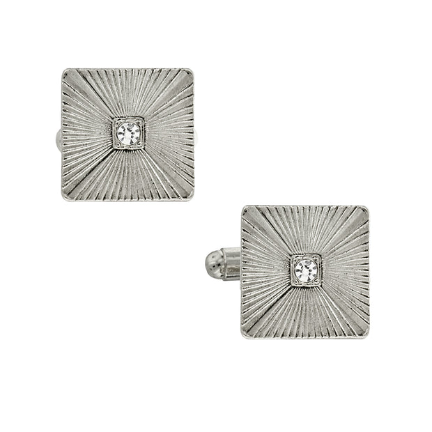 1928 Jewelry Crystal Square Cufflinks