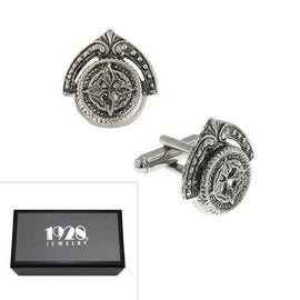 Silver-Tone Novelty Cufflinks