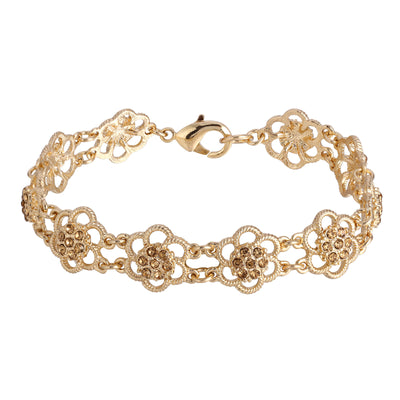 Gold-Tone Lt. Colorado Flower Link Bracelet