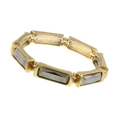 Gold-Tone Hematite Stretch Bracelet