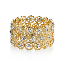 Gold-Tone Crystal Stretch Bracelet