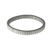 Silver Stainless Steel Band Stretch Bracelet