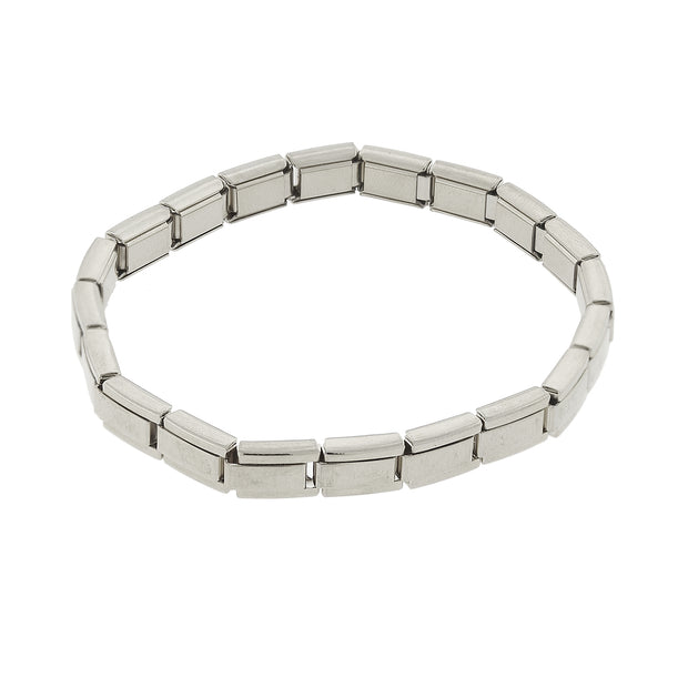 Silver Tone Stretch Stainless Steel Bracelet