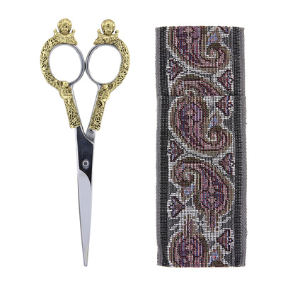 "Two-Tone Scissors With 6.5"" Cloth Pouch"