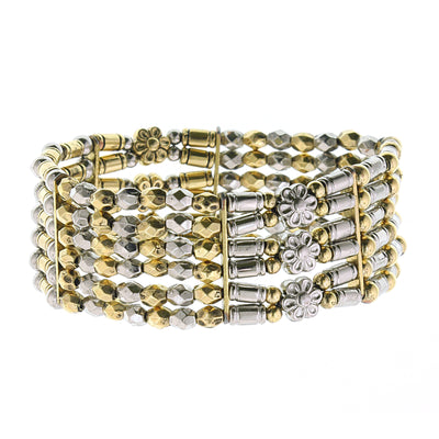 Brass 6 Row Stretch Bracelet