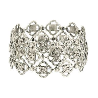 Silver-Tone Tailored Stretch Bracelet