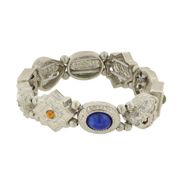 Multi Charm Link Stretch Bracelet