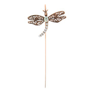 Copper-Tone Crystal Dragonfly Bookmark