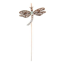 Fashion Jewelry - Floating Copper-Tone Crystal Dragonfly Bookmark