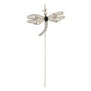 Black 1928 Jewelry Crystal Dragonfly Bookmark