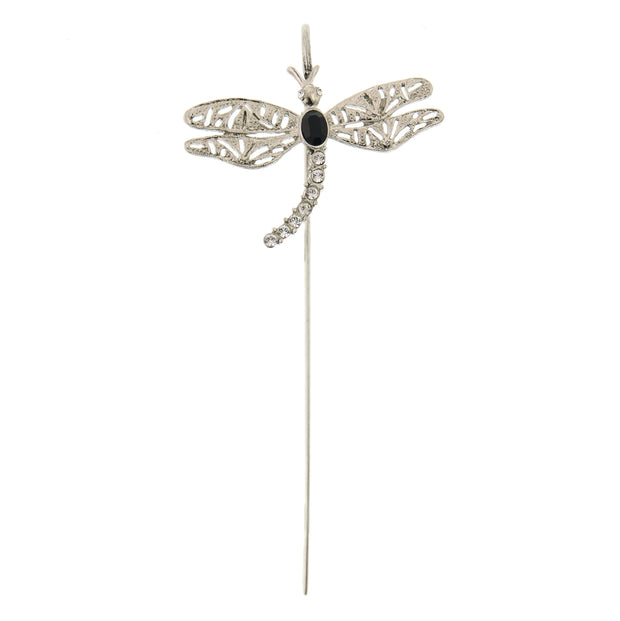 Copper-Tone Crystal Dragonfly Bookmark Silver