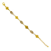 Gold Tone Genuine River Stone Beaded Bracelet