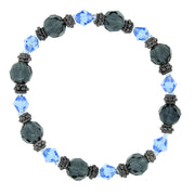 Sapphire And Montana Blue Beaded Bracelet