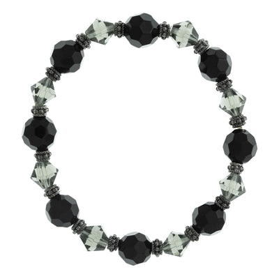 Jet/Jet/Black Diamond Stretch Bracelet