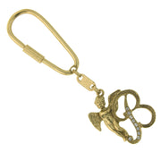Gold Tone Crystal Monogram Initial Angel Key Fobs B