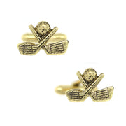 14K Gold Dipped Golf Cufflinks