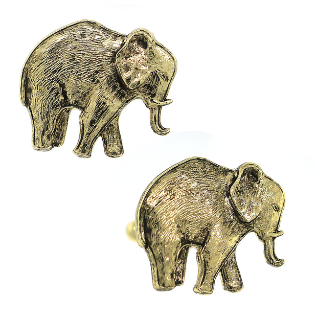 1928 Jewelry Gold-Tone Elephant Cuff Links