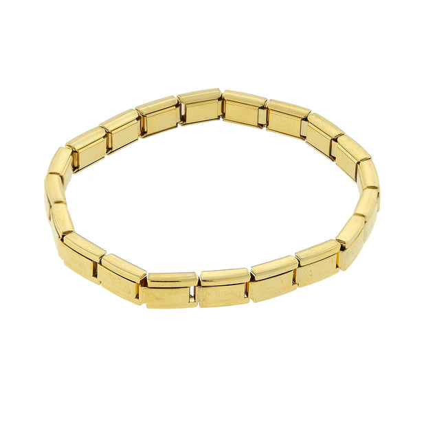 Gold Tone Stretch Stainless Steel Bracelet