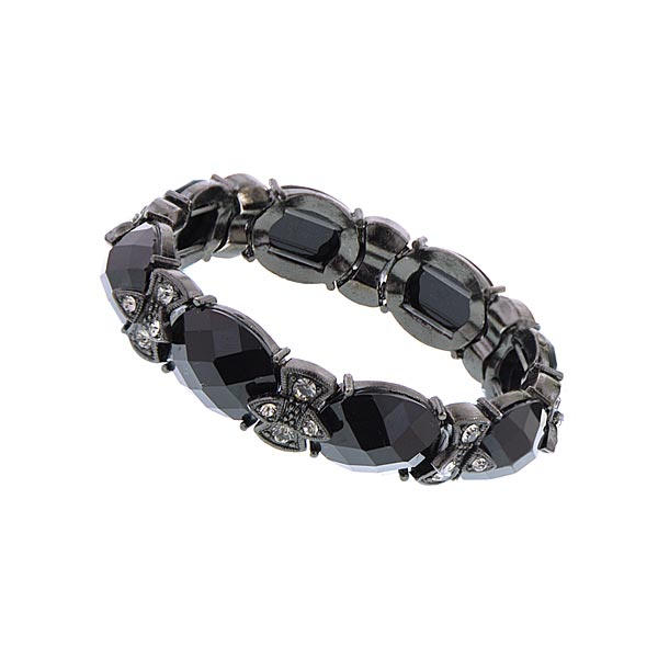 Jet W / Jet / Blk Diamond Stretch Bracelet