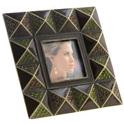 Enamel and Crystals Square Picture Frame 4x4
