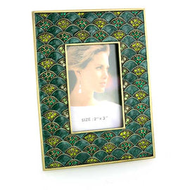 Crystal Colored Stones Square Picture Frame