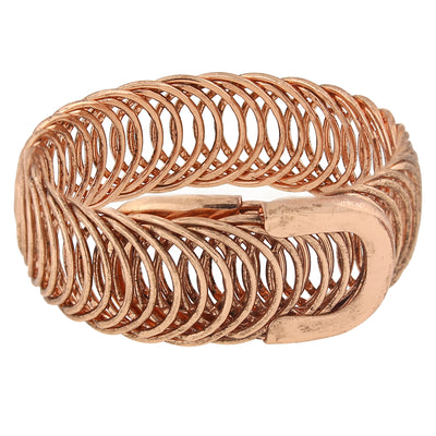 Rose Gold Tone Belt Bracelet